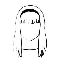 faceless young woman icon image vector image