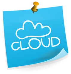 Cloud technology sticky note vector