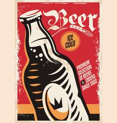 Beer pub poster design vector