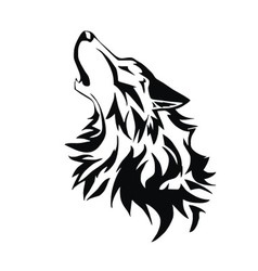 Tribal wolf vector