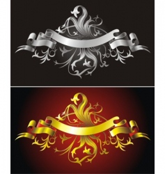 heraldic backgrounds vector image