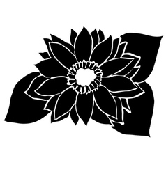 Decorative sunflower vector