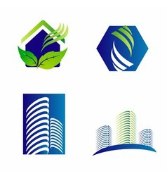Building construction architecture company logo se vector