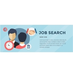 New job search infographic labor office loupe vector
