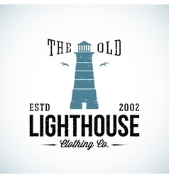 The old lighthouse nautical abstract retro vector