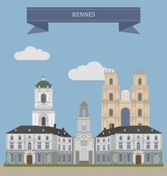 Rennes vector image