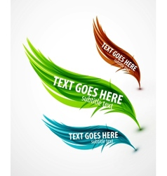 abstract wave text line vector image