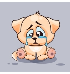 Sad dog crying vector