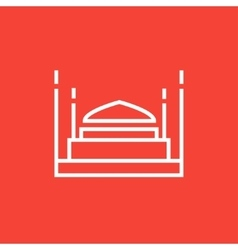 Taj mahal line icon vector