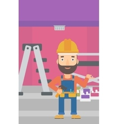Cheerful repairer engineer vector