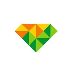 Abstract triangle diamond color logo vector