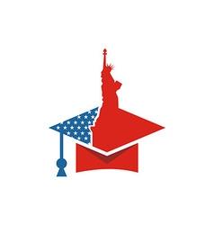 America usa logo liberty icon vector