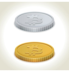 Bitcoin coins vector