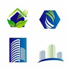Building construction architecture company logo se vector