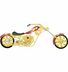 chopper gold vector image vector image