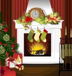 christmas room vector image