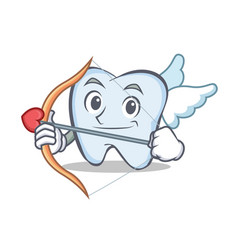 Cupid tooth character cartoon style vector