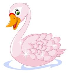 cute goose cartoon vector image
