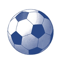 Engraved soccer ball vector