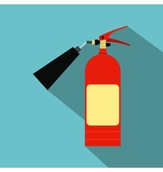 Fire extinguisher flat icon vector image vector image