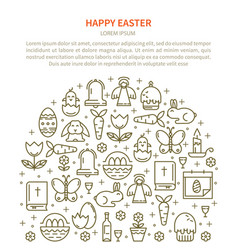 Flyer easter with your text vector