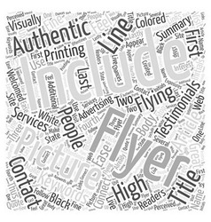 Flying high with flyers word cloud concept vector