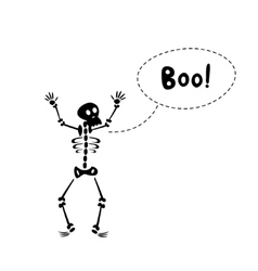 Funny skeleton vector