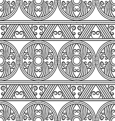 Geometric decorative ethnic pattern vector image