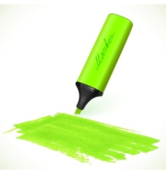 Green marker with drawn spot vector image
