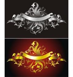 Heraldic backgrounds vector