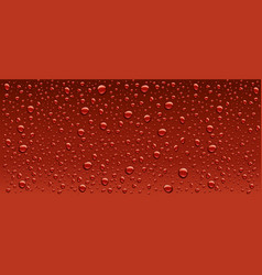 Panorama dark red water droplets background vector