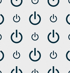 Power icon sign Seamless pattern with geometric vector image