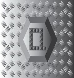Q text aluminium wallpaper vector