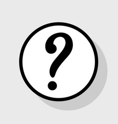 Question mark sign flat black icon in vector