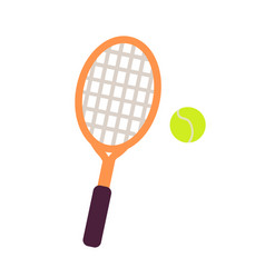 racket and tennis ball close-up graphic art icon vector image vector image