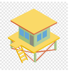 Rescue tower isometric icon vector