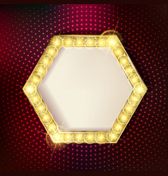 Retro marquee stylish frames with light bulbs vector