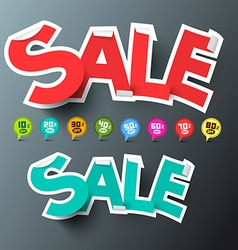 Sale Tags and Discount Labels Set vector image vector image