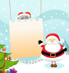 Santa message vector