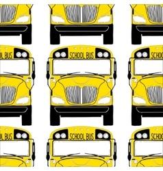 School bus pattern vector image vector image