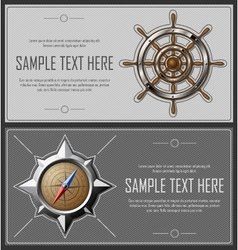 Set of grey abstract flyers vector image