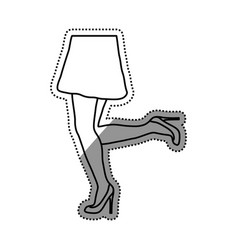 woman legs cartoon vector image