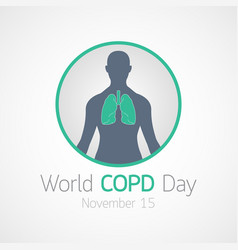 World copd day icon vector