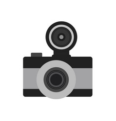 photo camera flat icon symbol photographer vector image