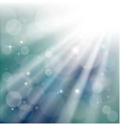 Bokeh light rays background vector