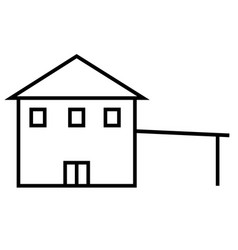 House with parking icon vector