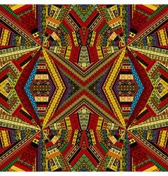 Kaleidoscope made of ethnic patchwork fabric vector image
