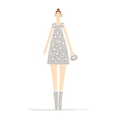 Beautiful woman sketch for your design vector image