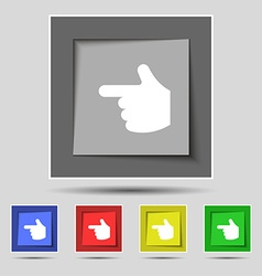 Pointing hand icon sign on the original five vector