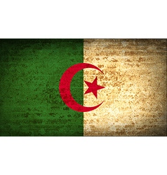 Flags algeria with dirty paper texture vector